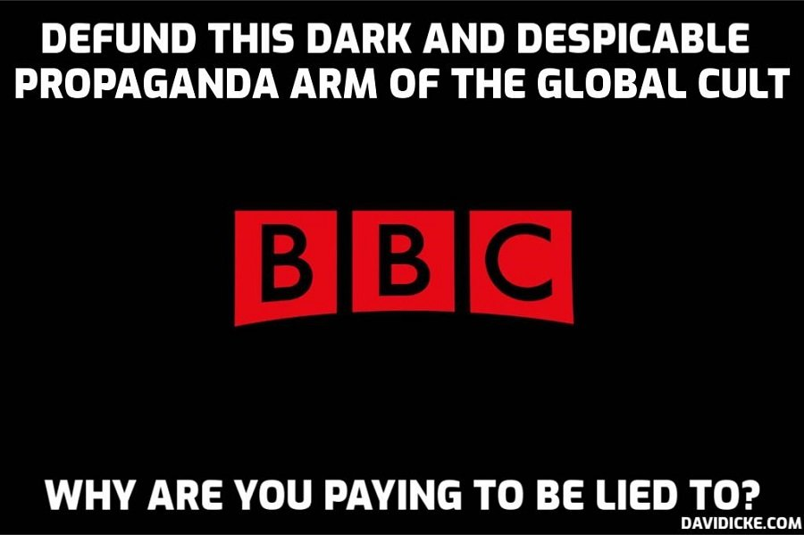Senior executive is paid £330,000 a year to monitor whether the Corporation is impartial when anyone with a brain cell knows that it is systematically advancing a blatant agenda through lies and omission. They are laughing at us – David Icke