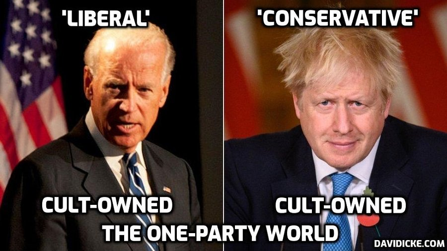 Cult-owned 'Build Back Better' Biden and Johnson speak on the phone in support of the Cult's 'Great Reset' – a classic example of the one-party world