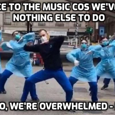 Another lockdown and 'healthcare' staff in 'war-zone' hospitals are dancing again - Deja Vu