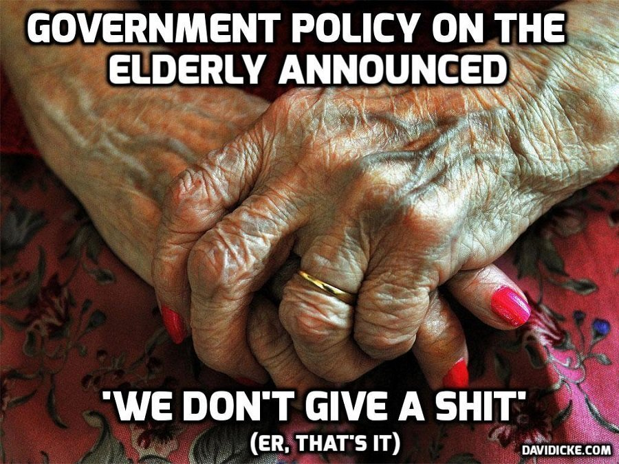 Care home post by journalist Jacqui Deevoy about guidelines to allow visits being ignored – David Icke