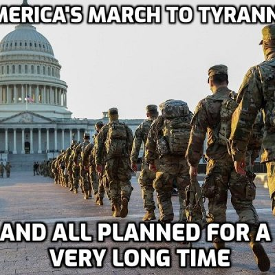 Washington DC now under military occupation - more US troops in the capital than in Iraq and Afghanistan combined and another step on the road to the military-police state I have warned about for 30 years. Troops now undergoing 'political view' checks before being deployed which is straight out of 1984