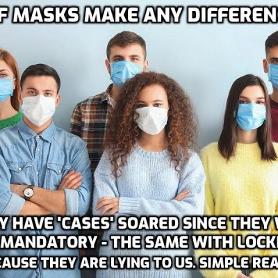 Peer-reviewed study: Masks are useless and bad for you (But keep wearing them - mummy and daddy state said)