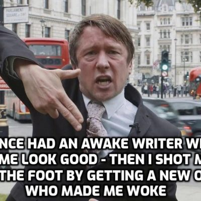 Professional Woker and former comedian 'Jonathan Pie' sings to his Woker audience telling them what they want to hear while ignoring the extraordinary corruption and deceit of Joe Biden. Talking about the lies and lunacy on both sides is far too balanced for Wokers so it's 'Trump is horrible and an idiot over and over'. Yawn