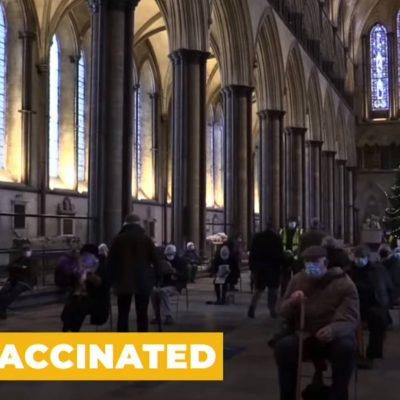 Church of England bows to the State (as always) as Salisbury Cathedral used for the fake 'vaccination' to the sound of organ music - 'Onward Christian