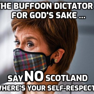 Dictator Sturgeon announces national lockdown in Scotland in line with the long-planned script being following in England and Wales - destroy independent income to enforce dependency on the state (mass control)