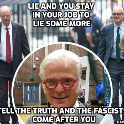 Media facilitators of fascism and political imposers of fascism of course target Tory MP Desmond Swayne over 'unacceptable' (to the fascists) comments telling anti-lockdown protesters to 'persist' and that 'Covid' case and death figures are being manipulated (absolutely provable fact)