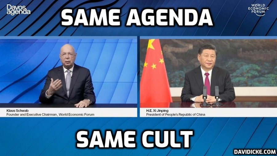 Xi Jinping and Schwab on the same Cult page over transformation of the world to a fascist tyranny masked (if you're really uninformed) by the language of 'Covid' and 'climate change'