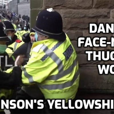 Face-nappy Yellowshirt thugs make arrests at peaceful (till they turned up) anti-lockdown gathering in Birmingham - Brownshirts, Blackshirts, now Yellowshirts. Fascism is nothing if not predicable