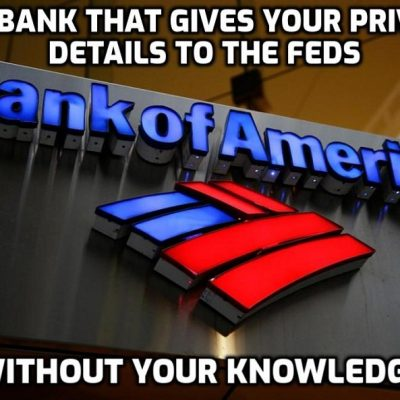Sinister Bank of America trawled through customer accounts without permission seeking to connect them with the Washington protest on behalf of law enforcement as Global Cult's war on dissent continues to expand