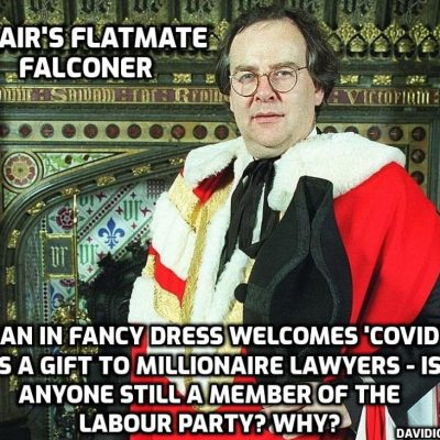 Covid 'is a gift that keeps on giving' for us multi-millionaire lawyers says former Blair flatmate and now shadow attorney general in Starmer's far-right Labour Party