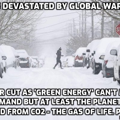 Texas freezes in record low temperatures as global warming strikes again - power goes off (the wind farms froze) because America's home of oil and gas sources transferred to 'green energy' which can't cope as intelligent people have said all along. Welcome to another Gates-induced debacle just as his 'save-the-planet' book comes out
