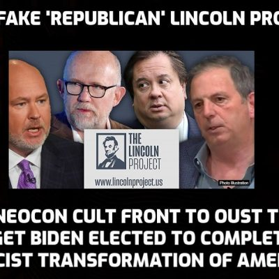 Deeply sleazy and corrupt Cult-backed Neocon Lincoln Project, created by alleged 'Republicans' to unseat Trump and secure Biden the presidency, collapsing amid young men sexual allegations involving its co-founder John Weaver which the FBI is 'investigating' while massive payments to founders (for services rendered) come to light