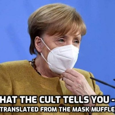 'Pandemic' will be with us until EVERYONE on earth given 'Covid-19 vaccine', says Cult-owned Merkel reading her script like a good little psychopathic gofer
