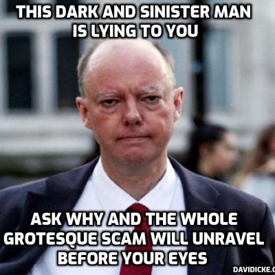 Dark, dark, Whitty who has destroyed the country and tens of millions of lives urges public to stick to the rules as lockdown is 'eased' - or Mr Gates will be very angry with him. COME ON PEOPLE - revolution of non-cooperation before the psychopaths take everything from you