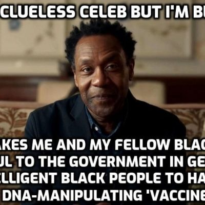 Clueless system-serving celebrities now target black community with vaccine propaganda. Lenny Henry leads campaign to drive vaccine uptake in ethnic minority communities saying he hears their 'legitimate worries and concerns' but people must 'trust the facts'. They ARE you silly man - that's why they're not having it