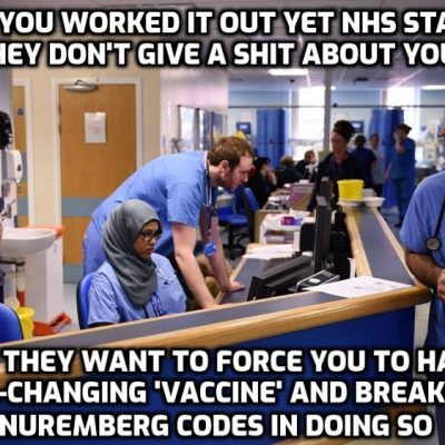 The outrageous NHS document telling staff how to manipulate you to have the DNA-changing synthetic 'vaccine' never used on humans before with the makers immune from prosecution for the damage and death it is causing. Save the sick and corrupt NHS? No - we need to start again and the same with the police