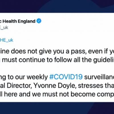 Liars of Public Health England and the rest of government say having the fake vaccine does NOT mean people can stop 'following the rules' but that's exactly what they said would happen if we were 'vaccinated'. The lying is breathtaking and COME ON PEOPLE it's time to end this NOW and jail these psychopaths