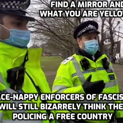 Arrested for doing journalism in fascist Britain - it's the wrong kind of journalism you see (the proper kind)