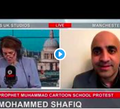 Mohammed Shafiq, chief executive of the UK Ramadhan Foundation, does Muslims no favours with his 'Muslims can do no wrong' and 'we are victims' response to every situation. He's the second man to be interviewed here about the Batley school 'Muhammed' protests and it's the same poor  us drivel I have heard from him time and again. There are shades of grey, mate. I'll meet you there