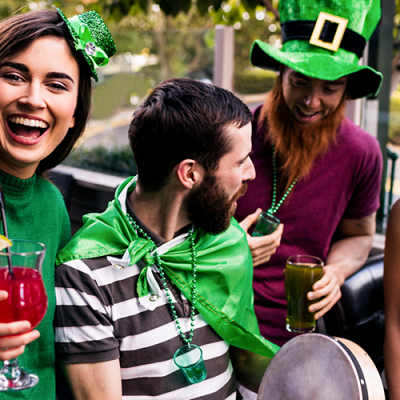 Minister urges Irish not to drink to celebrate St Patricks Day. Where are the white coats when you need them?