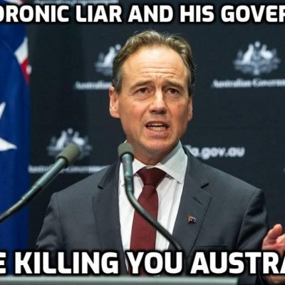 Australian government 'vaccine' policy killing its population - just like the rest of the world. You stand up now people or you just let them do it. Where's your bloody self-respect?