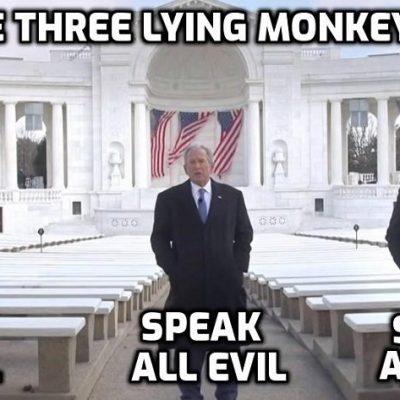 When three monumental liars tell you to 'get vaccinated' you know it's the last thing to do