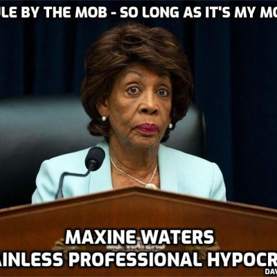 Maxine 'spot-the-brain-cell' Waters is the personification of Woke inhumanity and rule by the mob - she calls for riots while demanding bodyguards for herself
