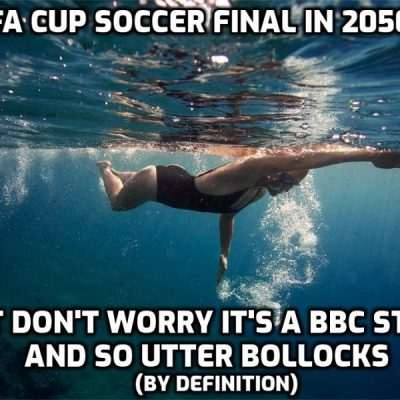 The BBC's Laurel and Hardy of environmental non-journalism spew forth the fear-porn for their masters - BBC's apocalyptic vision of sport in 2050