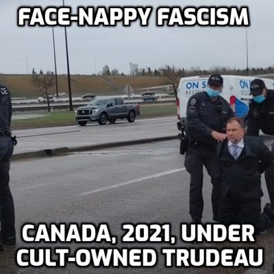 Fascist Face-Nappies arrest Canadian pastor - get off your knees Canada you are occupied by a Nazi regime
