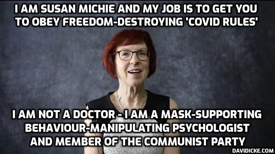 Ludicrous Professor Susan Michie, the filthy rich 'communist', and professional government psychological manipulator, says masks and social distancing must continue FOREVER – that's the agenda of the Cult. Nuremberg, Nuremberg, Nuremberg …