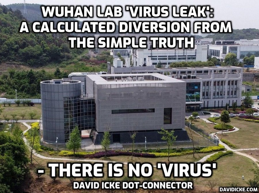 Wuhan Lab 'Virus' Leak: A Calculated Diversion From The Simple Truth - There Is No 'Virus' - David Icke Dot-Connector