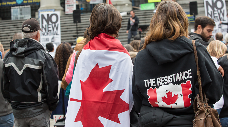 100,000 Canadians protest lockdowns in Montreal