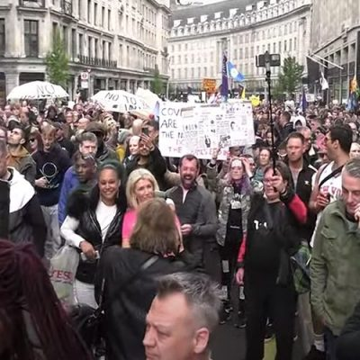 Live: Anti Lockdown Protest - St James Park to the BBC & around London