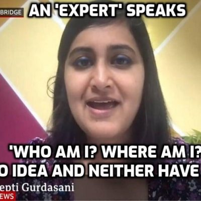 An absolute child with a fancy title talks utter bollocks about 'variants' and she's 'interviewed' by a BBC software program - it's a car-crash exchange that shows how idiocy is interviewing idiocy and trying to kid us they are having an 'intelligent' exchange