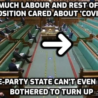 Where is the opposition? Labour, Lib Dems and SNP fail to attend crucial 'Covid' debate in Commons as Johnson is hit with mutiny from 51 of his own MPs - but 'Freedom Day' delay sails through with the usual help from the useless Starmer