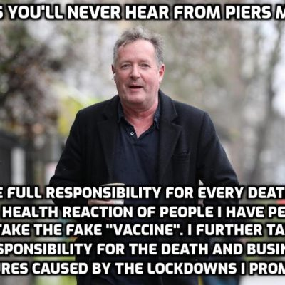 If Piers Morgan really had Covid-19, why did his Mother come to visit and make him breakfast in bed? – He's lying to you