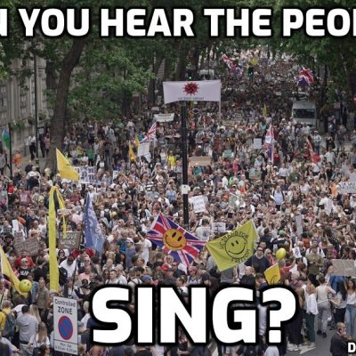 London Freedom March BIGGEST EVER June 26th - filmed by J ason Liosatos (can you see yourself?)