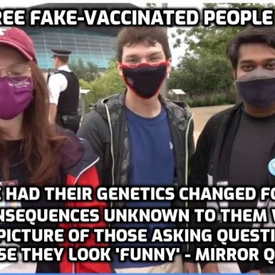 Lambs to the slaughter and football fans (ditto) mock those warning about dangers of the fake 'vaccines' and out of their mouths comes the official narrative word for word (governments never lie) while they feel intellectually superior to those with a mind of their own. The self-delusion is stunning - and now their consequences are life-long