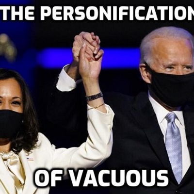 The 'pure, hilarious absurdity of Ms Kamala D. Harris' - but not so funny - she's the dominant political figure in the White House which has become, with Biden, a global joke