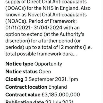 Why Are The NHS Putting Out A £3.2 Billion Contract For Blood Clot Treatments?