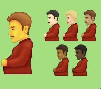 Tech companies plan to introduce bizarre PREGNANT MAN emoji