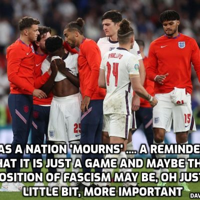 England loses a game while losing its freedom. Which is more important?