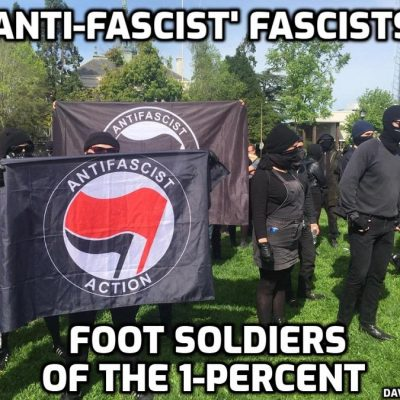 Cult-owned fascist 'anti-fascist' Antifa now attacking those opposing fascist 'vaccine' mandates. How very anti-fascist