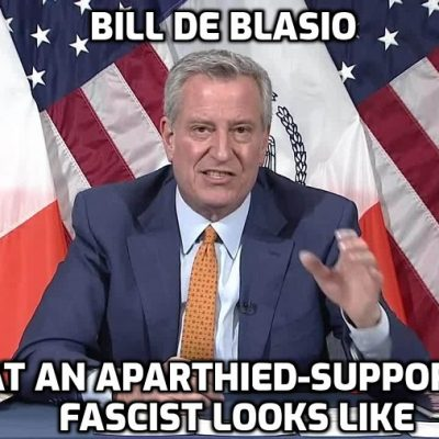 Cult-owned monumental moron mayor of New York announces fake vaccine apartheid as the fascist that he is