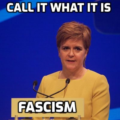 Fascist Scottish Government wants to make emergency 'Covid' powers permanent (That has been the plan from the start and the same everywhere). As I've said since all this began: It doesn't end until WE end it