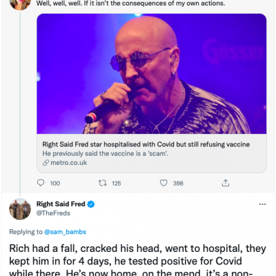 Classic of its kind: 'Right Said Fred star in hospital with