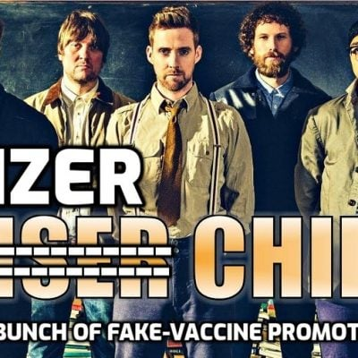 The Pfizer Chiefs at the Isle of Wight festival - these monumental system-serving prats are a disgrace to those who ludicrously buy their records. They don't give a shit about you - only their arse-licking subservience to the cabal