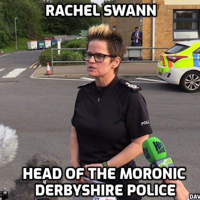 There are complete mindless prats and then there is Derbyshire Police: Now the fun police pounce on newlyweds for the crime of wanting nice pics: Derbyshire officers boast of stopping bride and groom posing in their wedding outfits at fenced-off beauty spot. You are mentally-ill chaps. Everyone can see it except you and the idiot in charge