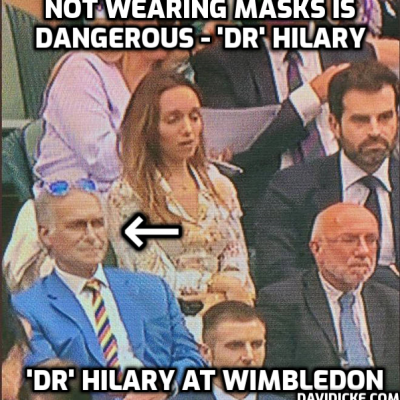 Dr Hilary (this prat is a DOCTOR? Jeez) says Strictly pros have 'duty of care' to reveal whether they've had the 'Covid' fake jab which is killing enormous numbers of people. Absolutely right. If people have had the jab they should say so and we can have an ambulance with an engine running outside next to the men in white coats waiting for 'Dr' Hilary. If you want a live debate on your ludicrous show 'Dr' give me a call. I can't wait