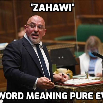 Secret society psychopath Zahawi 'worried about the flu' - worried whether enough people will believe that the consequences of the fake vaccines are actually the flu which never went away and was simply renamed 'Covid-19'